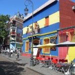 <p>The original houses were a dull corrugated so the owners painted them all sorts of colours to brighten them up.</p>